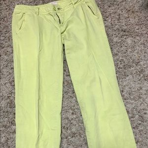 Lime green mossimo pants